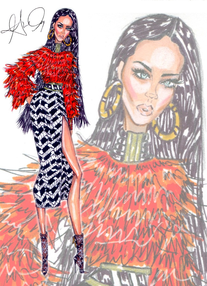 Rihanna In Balmain by Gerardo Amparo